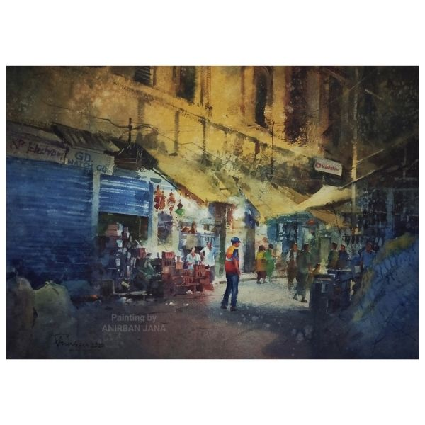 Aj -3 | Watercolor Painting by Anirban Jana | 15×21