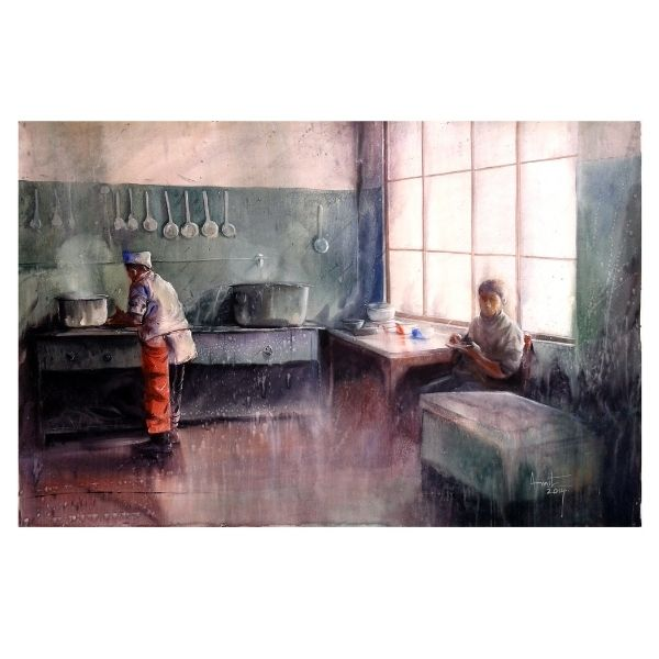 Kitchen of Mcleodganj_58X36 inches