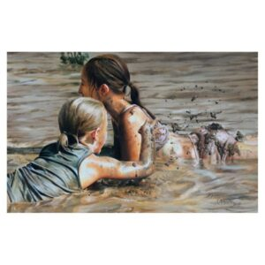 FROLICKING IN THE MUD | OIL ON CANVAS | 24X35