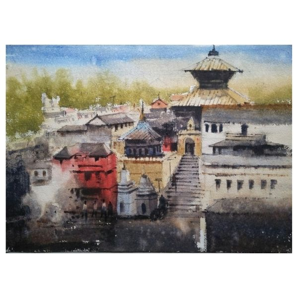 PD – 10 | Watercolor Painting by Pankaj Dwivedy | 14×10