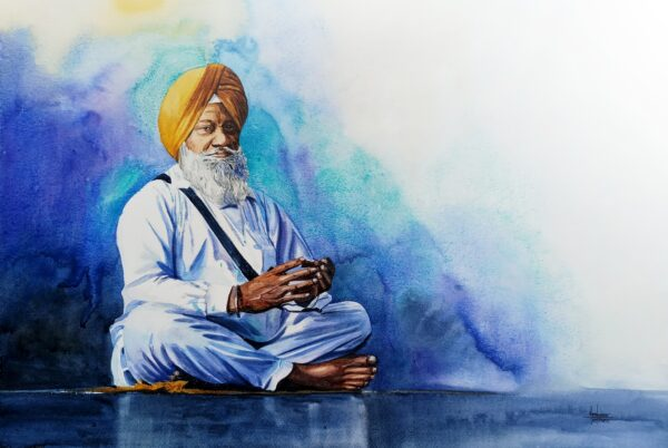 Sikh | Watercolor Painting by Hemkumar Topiwala | 22×15