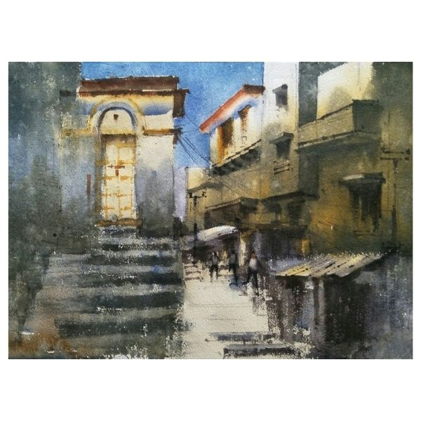 PD – 8 | Watercolor Painting by Pankaj Dwivedy | 14×10