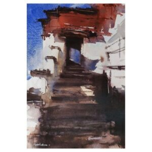 STAIRS TO HEAVEN | Watercolor Painting | 8×12