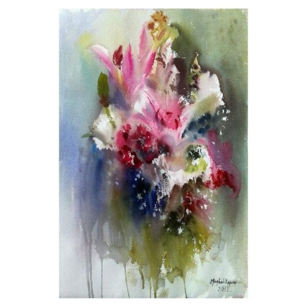 Blooming together_ 56x76cm