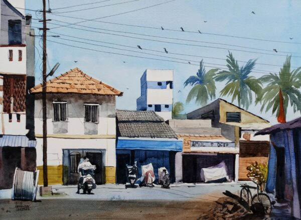 Shahapur | Watercolor Painting by Hemkumar Topiwala | 16×11