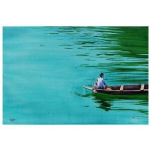 Boatman | Watercolor Painting by Hemkumar Topiwala | 22×15