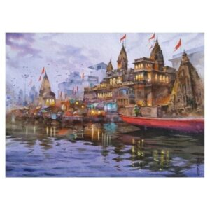 EVENING_AT_VARANASI | Watercolor_on_handmade_paper | 30X22