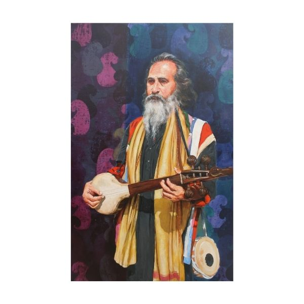 Traditional Singer | Acrylic Painting by Satyabrata Karmakar | 48×36