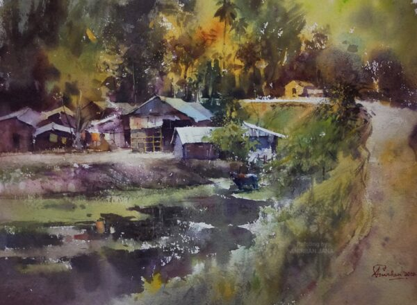 Aj -14 | Watercolor Painting by Anirban Jana | 11×15
