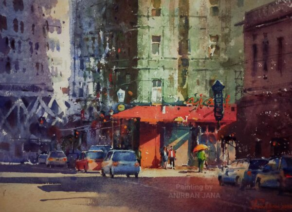 Aj -18 | Watercolor Painting by Anirban Jana | 11×15
