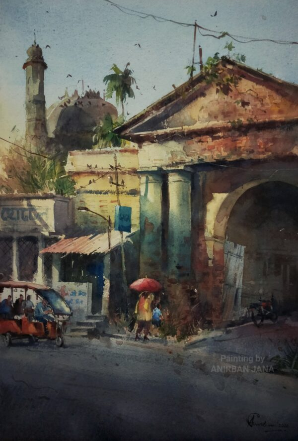 Aj -2 | Watercolor Painting by Anirban Jana | 15×21