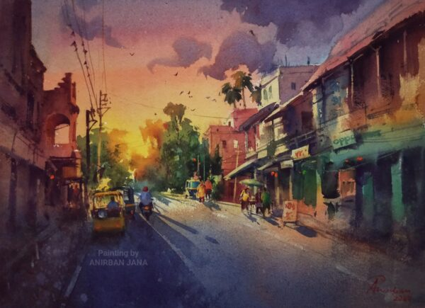 Aj -20 | Watercolor Painting by Anirban Jana | 11×15