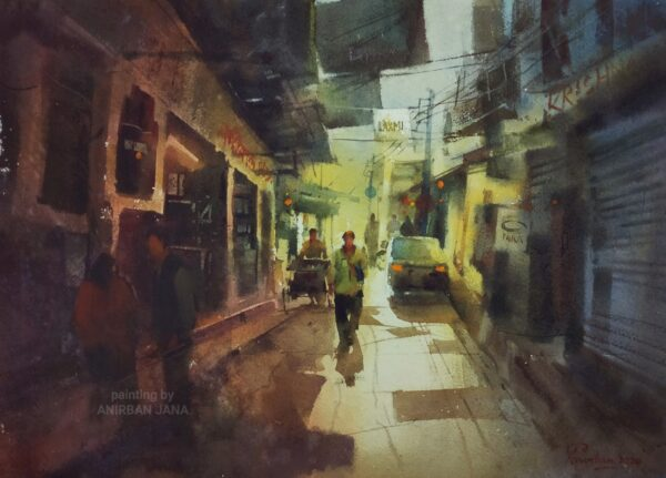 Aj -8 | Watercolor Painting by Anirban Jana | 11×15