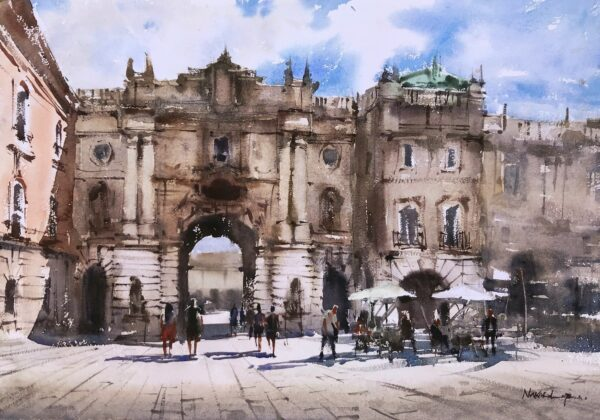 BUDAPEST | Watercolor Painting |14 x 20