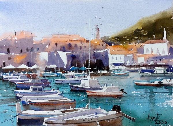 Boats in the Afternoon_30X42cm