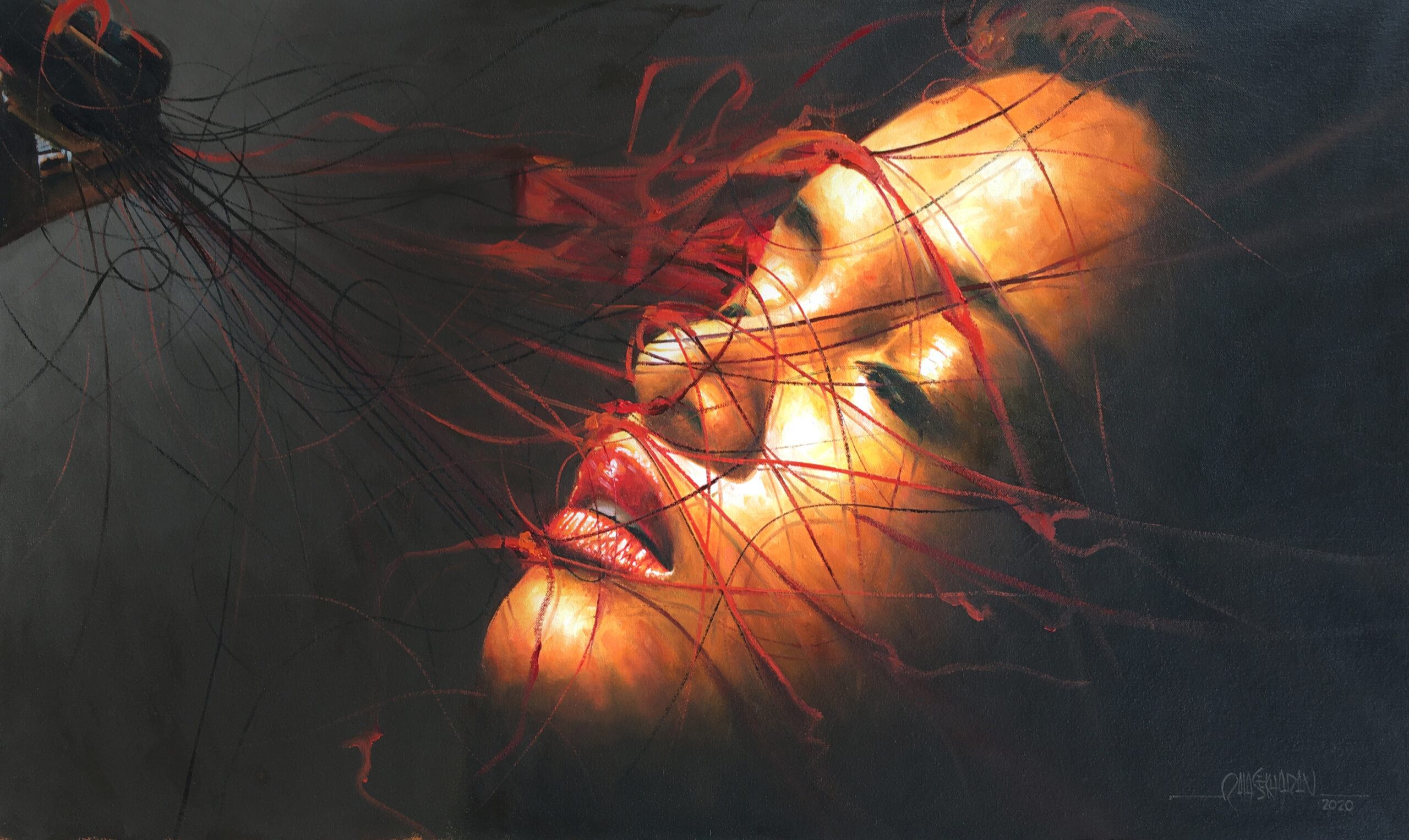ECSTASY, OIL ON CANVAS 24 X 40, 3,00-