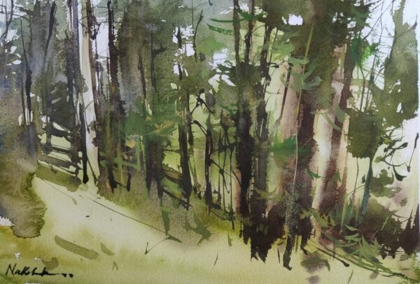 FOREST | Watercolor Painting | 8×12