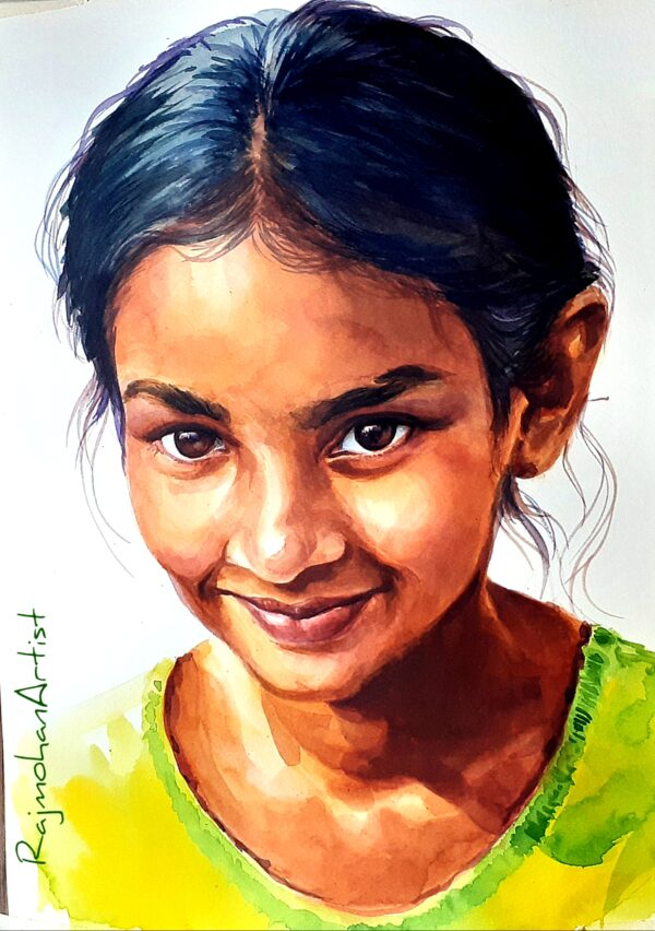 LITTLE GIRL | Watercolor on Paper | 11×16