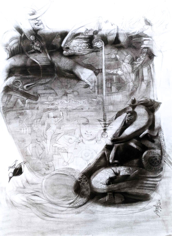 Reincarnation -2   Charcoal On Paper   22×30