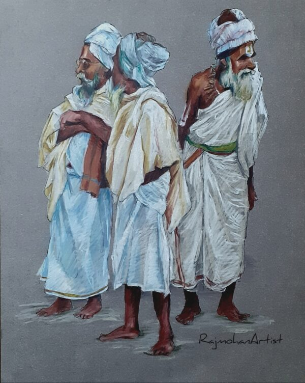 SADHUS | Color Pencils on Toned Paper | 11X14