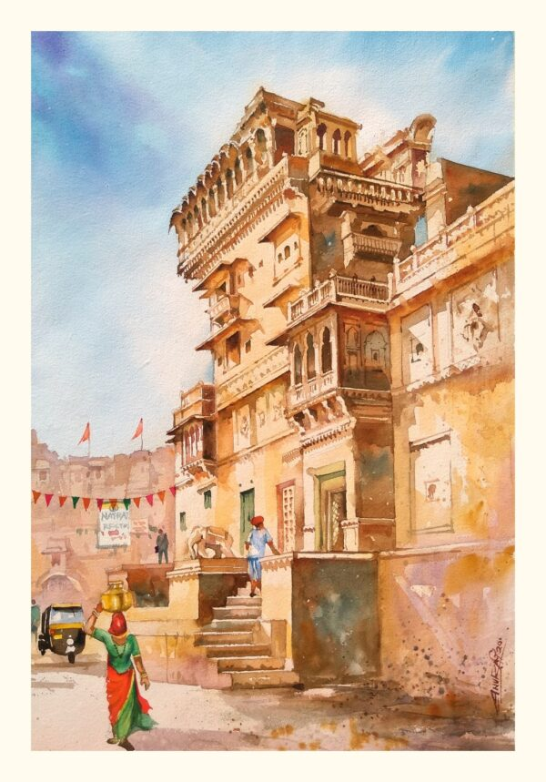 SALIM_SINGH_KI_HAVELI_JAISALMER | Watercolor_on_handmade_paper | 21X14