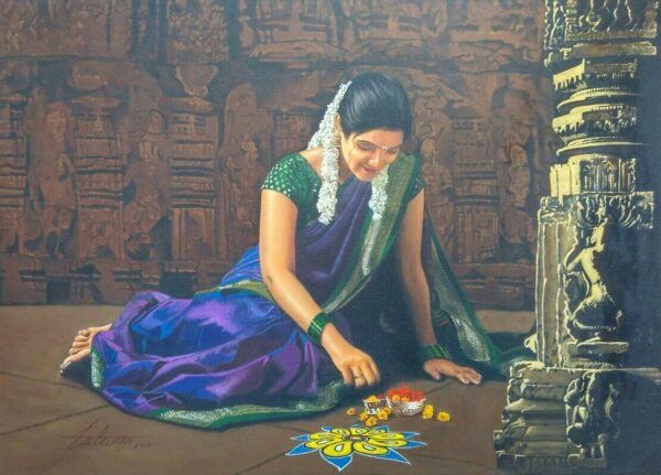 Sount Indian Beauty | Acrylic On Canvas | 36x42