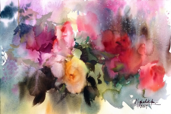 The blooming Wash_ 56x38cm