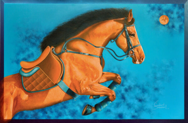 Unstoppable... I 48x72inch Acrylic on linen