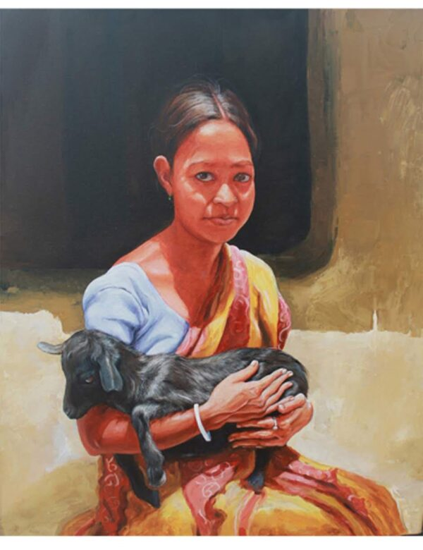 The Affections | Acrylic On Canvas Painting by Satyabrata Karmakar | 36×30