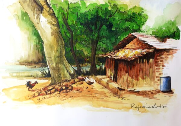 VILLAGE SC | Watercolor on paper | 16X11