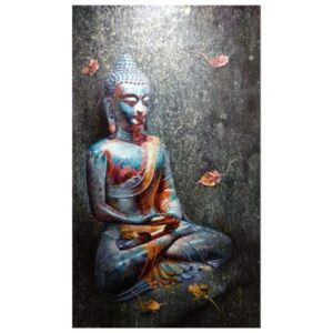 Gautam Buddha – Acrylic/Oil on Canvas – 35×58