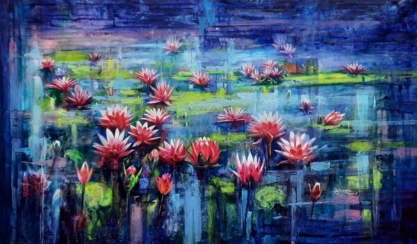 Water Lily – Oil On Linen – 22×38