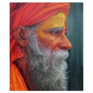 Sadhu – Acrylic On Canvas – 30×36