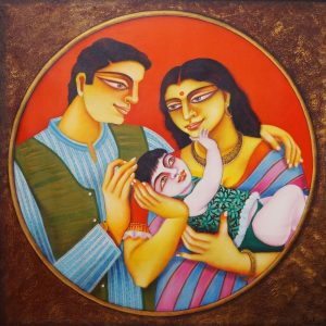 Couple 2 – 36×36 – Oil Painting