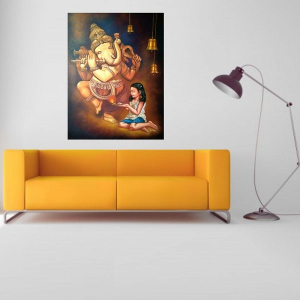 Little Priest 2 | Oil-Canvas Painitng by Gopal Sharma | 32x46