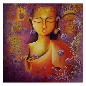 GLIMPSE OF BUDDHAS ENLIGHTENMENT 2 – Acrylic On Canvas – 36×36