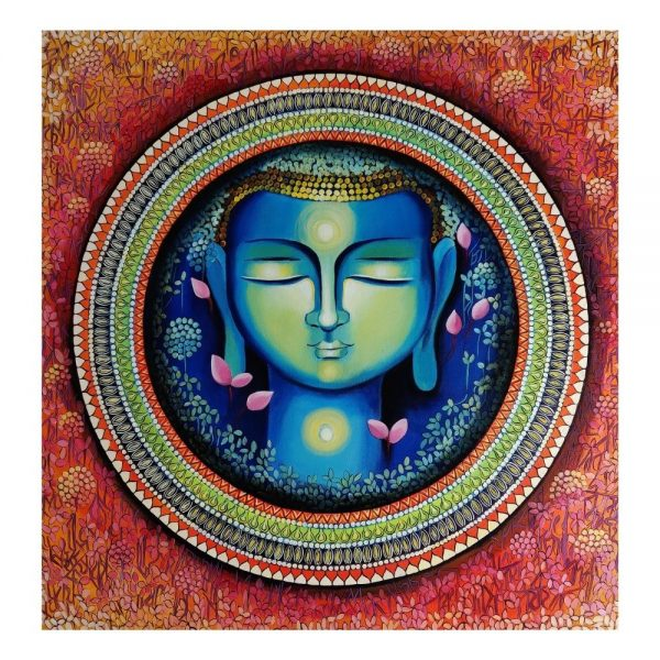 BUDDHA – THE RISE OF SOUL CONCIOUSNESS 3 – Acrylic On Canvas – 36×36