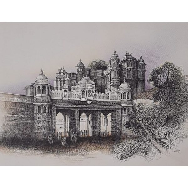 Tripolia Udaipur | 26×20 | Pen and Ink on Paper