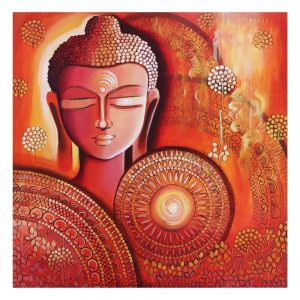 BUDDHA AWAKENING CONSCIOUSNESS__01 Acrylic On Canvas – 30×30