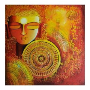 EMERGING BUDDHA SERIES 1 – Acrylic On Canvas – 24×24