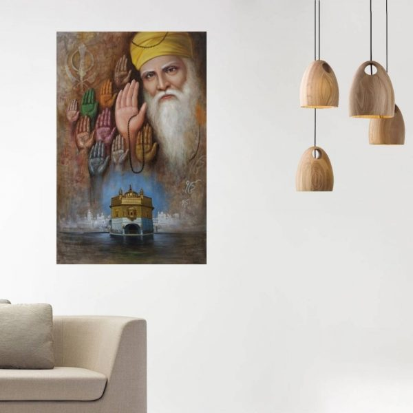 The Blessings of 10 Sage's | Oil Painting By Hari Om Singh