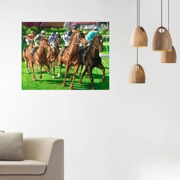 Horse Race Course | Oil Painting by Chikita Patel | 48x36