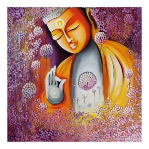 EMERGING BUDDHA SERIES 6 – Acrylic On Canvas – 24×24