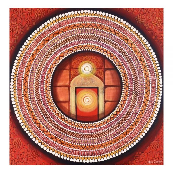 MANDALA – AWEKENING LIGHT INSIDE – Acrylic On Canvas – 30×30