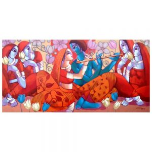 Leela – 36×72 – Acrylic On Canvas