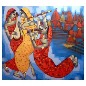 Tune Of Benaras – 60×66 – Acrylic