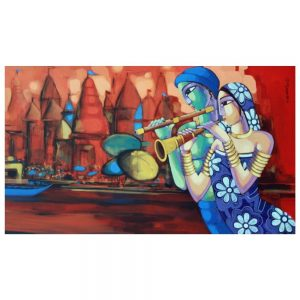 Tune Of Benaras 2 – 36×60 – Acrylic