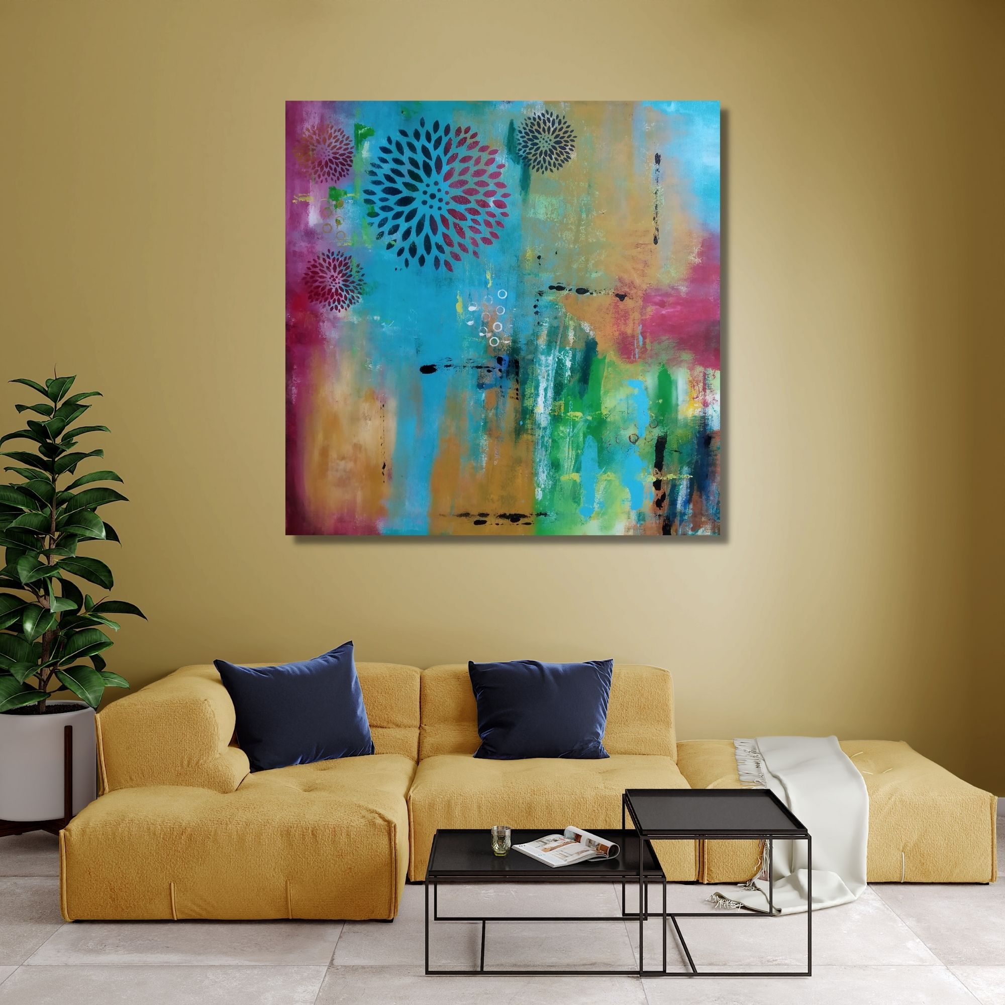 Abstract Expression - Acrylic Canvas - 20x20