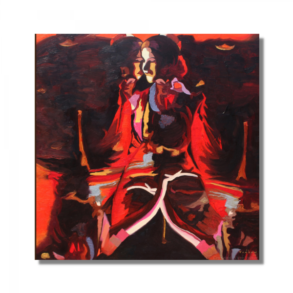 Tattered Woman - Oil On Canvas - 30x30 inch