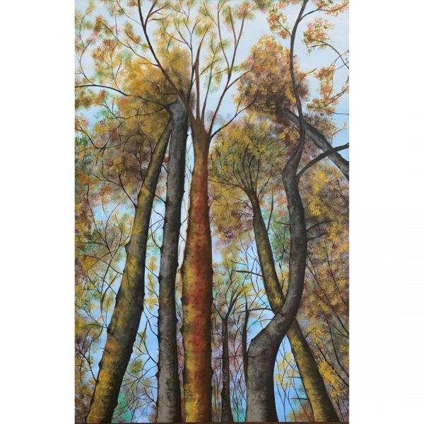 Soulful Forest - 24x36 inch - Handmade Painting